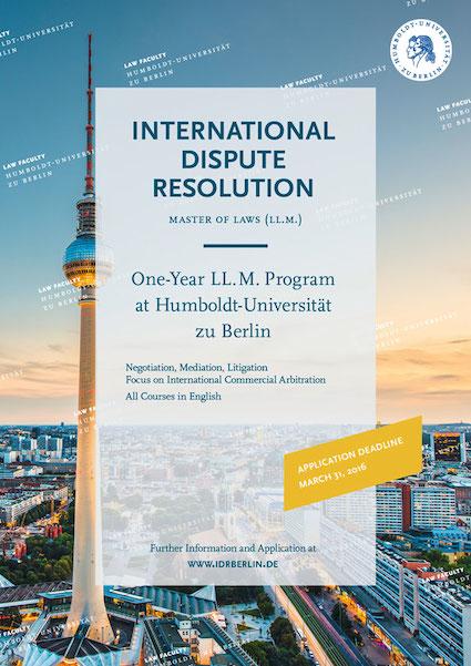 humboldt university berlin graduate program on international